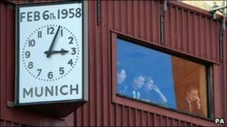 Munich Air Disaster memorial clock at Old Trafford