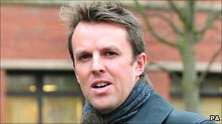 Graeme Swann outside Nottingham Magistrates' Court