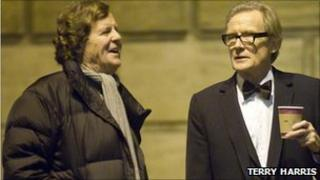 Sir David Hare and Bill Nighy in Cambridge