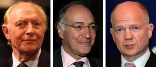 Lord Kinnock, Michael Howard, William Hague