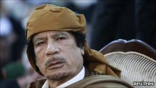 Muammar Gaddafi in Tripoli, Libya - 13 February 2011
