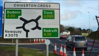Chiverton Cross roundabout
