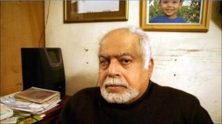 Mohammed Bakir, whose son Ziad went missing during protests in Cairo on 28 January 2011, picture taken 15 February 2011