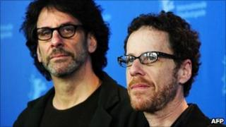 Joel Coen and Ethan Coen at photocall for True Grit in Berlin