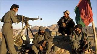 Militia members in Afghanistan