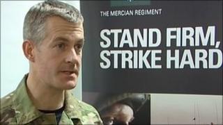 Lt Col Giles Woodhouse, Mercian Regiment Commanding Officer