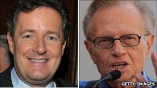 Piers Morgan (left) and Larry King
