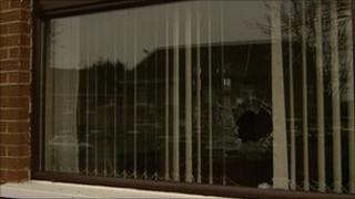 Window gunshot
