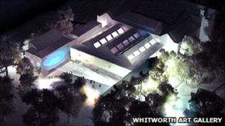 An artist's impression of the new Whitworth Art Gallery extension