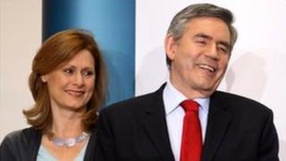 Sarah Brown with her husband former Prime Minister Gordon Brown