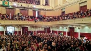 Paisley Town Hall rally