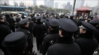 Police in Shanghai, China - 20 February 2011