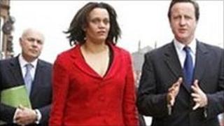 Iain Duncan Smith, Davena Rankin and David Cameron