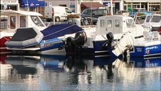 Boats in St Sampson's marina