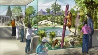 Artist's impression of conservation hub