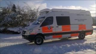 North of Tyne Mountain Rescue Team vehicle