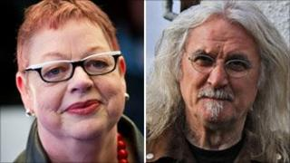 Jo Brand and Billy Connolly