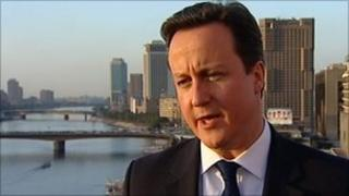 David Cameron in Egypt