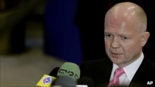 William Hague in Brussels on 21 February 2011