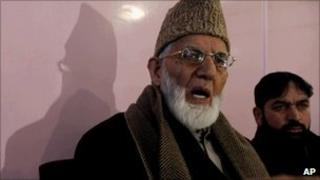 Kashmiri separatist leader Syed Ali Shah Geelani on 27 January 2011