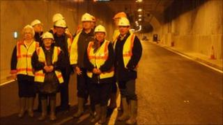 Original Tyne Tunnel workers tour the new tunnel