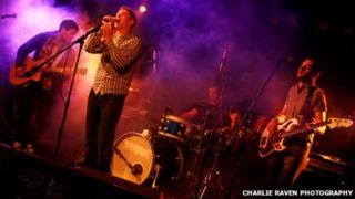 Bel Casino performing live - (left to right) Josh, Chris, JD and Basshoven