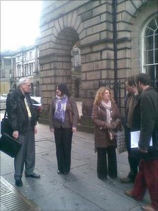 Road Sense campaigners outside the Court of Session