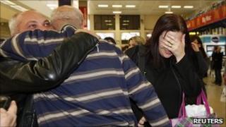 Maltese evacuees from Tripoli arrive home in Malta, 21 Feb 11