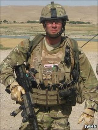 Corporal Ben Mitchell in Afghanistan