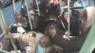Young mother attacked on bus