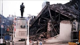 Aftermath of the Enniskillen bomb in 1987
