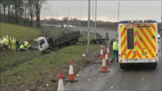 M73 crash - picture by Barrie Pentney
