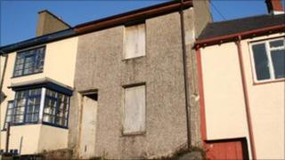 Terraced house at Talysarn which is being sold by Gwynedd council