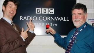 Matt Pengelly and Michael Taylor get ready to support Comic Relief 2011
