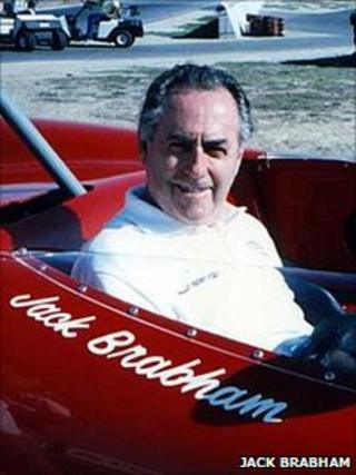 Jack Brabham driving one of his own cars