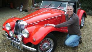Michael Standen's restored MG
