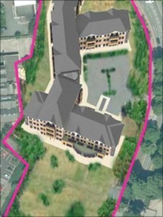 Aerial view (image from Staffordshire County Council)