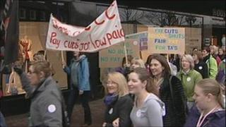 Teaching assistants pay protest