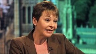 Green Party leader Caroline Lucas