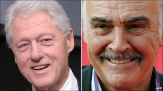 Bill Clinton and Sir Sean Connery