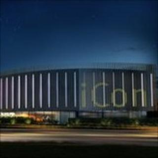 Artist's impression of planned iCon building