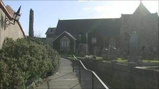 The girl was attacked in the church grounds