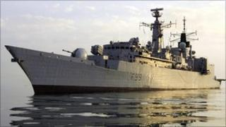 HMS Cornwall on duty in the Gulf