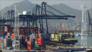 Kwai Chung container port in Hong Kong