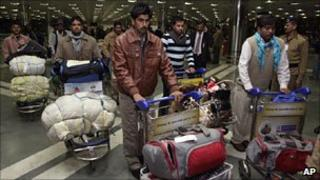 Indian nationals from Libya arrive in Delhi