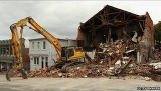 clearing up after Christchurch quake
