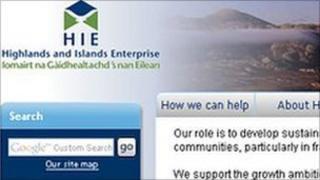 HIE's website