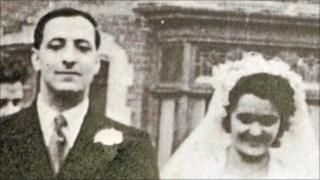 Sectarian murder victim Alfredo Fusco and his bride on their wedding day
