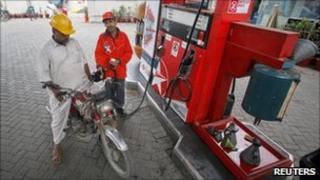 Petrol station in Karachi