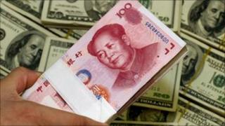 Chinese Yuan and US Dollar notes